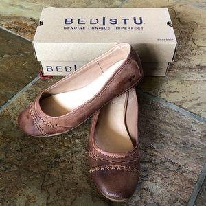 🍃💕NIB Bed Stu All Leather Ballet Flat